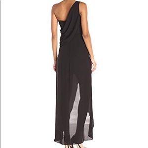 BCBG Max Azria Kail woven evening gown black 6